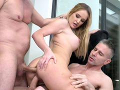 Kaisa Nord gets her love tunnels drilled in hot threesome